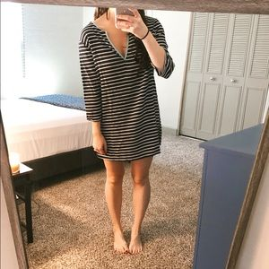 J crew striped coverup/tunic